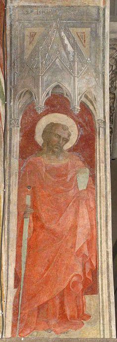 Lorenzo Monaco - San Paolo - affresco - 1420-1424 - Arcone - Cappella Bartolini Salimbeni - Firenze, Basilica della S. Trinità