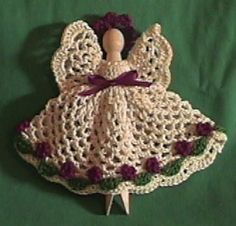 CROCHET CLOTHESPIN ANGELS PATTERNS | FREE CROCHET PATTERNS
