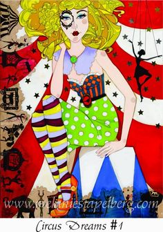 Circus dreams 1 Art print on canvas $35