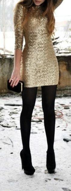 look dourado brilhante