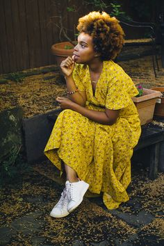LaTonya Yvette: Style: A Surprising Favorite: Black Women Fashion, Love Fashion, Fashion Outfits, Black Girl Magic, Black Girls, Black N Yellow, Dress For You, Beautiful People, Natural Hair Styles
