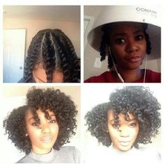 Flat twist or braid from center of hair OUT so that you don't have to manipulate it much once you untwist. Set with some oil and a few mins under the dryer and you're good to go! XOXO