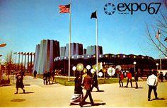 Expo 67 postcard carte postale pavillon état New York state pavilion Montreal New York, Expo 67 Montreal, World's Fair, Osaka, Dolores Park, Photos, Street View, Architecture, Vintage