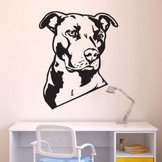 Aliexpress.com: Koop hond dier pitbull muur sticker home decor kunst pitbull muurstickers vinyl kunst aan de muur muurschildering van betrouwbare vinyl kunst aan de muur sticker leveranciers op Yan Ding Trade Co., Ltd.