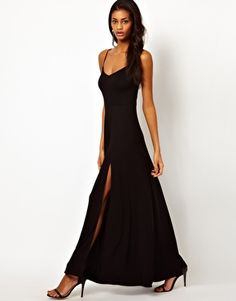 ASOS Maxi Dress With Circle Skirt (put a jacket with it and sew down the seams to the knee ... looks fun :-) )