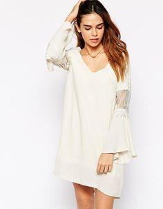 Kiss The Sky Janis Dress - Cream #dress #women #covetme #kissthesky