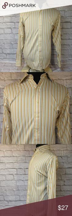 """Sean John Long Sleeve Striped Dress Shirt M44 EUC THE FIT Size - Large 16 1/2 34/35 CHEST - Armpit to Armpit - About - 26"""" SHOULDERS - Seam to Seam - About - 21"""" SLEEVE - Center of Collar to End of Cuff - About - 36"""" LENGTH - Base of Collar to Hem - About - 34""""  THE DETAILS Long Sleeve No Front Pockets 100% Cotton  PLEASE FOLLOW MY CLOSET FOR GREAT NEW DEALS EVERYDAY! THANK YOU FOR YOUR BUSINESS! Sean John Shirts Dress Shirts"""