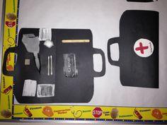 Community helpers theme: doctors bag