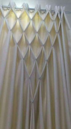 Smocking for curtains Bohemian Curtains, Home Curtains, Hanging Curtains, Bohemian Decor, Window Curtains, Macrame Curtain, Beaded Curtains, Rideaux Design, Canadian Smocking