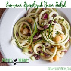 Spiralized Bean Salad #MeatlessMonday