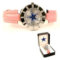 pink dallas cowboys watch