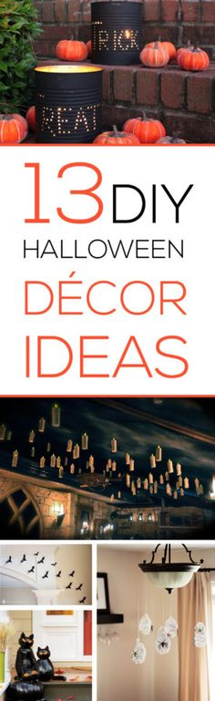 I LOVE these great Halloween decor tutorials! They will make your home more festive this year!