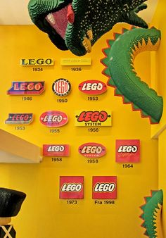 "Evolution of the Lego Logo. (just for fun, say ""Lego Logo"" 10 times really fast)"