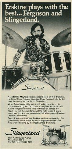 1977 Slingerland Drums Peter Erskine Photo Maynard Ferguson Vintage Ad | eBay