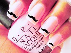 Mustache nails ;)