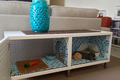 DIY Rabbit Hutch | Hutch by Nicole. I love the way she tiled the hole, totally bun proof!
