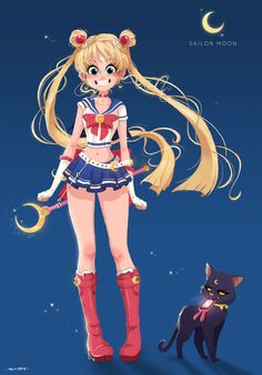 Sailor Moon Redesign by Memorabilia-Studios.deviantart.com on @DeviantArt