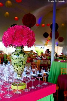 Bright color theme party