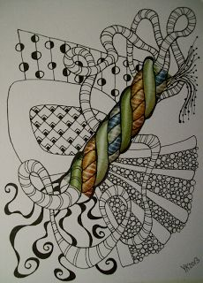 Freestyle color zentangle 326... | 365 freestyle color zentangles