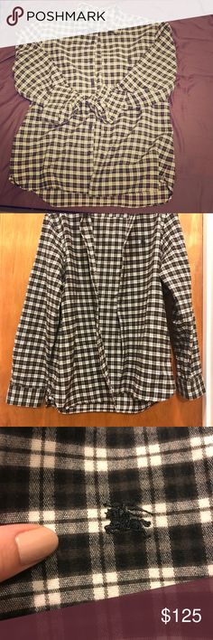 Burberry Men's Shirt from Nordstrom Bought this for my boyfriend and it's too small in the waist.  Fit is short and narrow.  Worn once. Burberry Shirts Dress Shirts