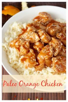 Paleo Orange Chicken- this healthy meal is easy to make and so delicious!! Gluten free, soy free, and sweetened only with honey.