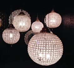 Globe Crystal Chandelier  With Pewter Finish