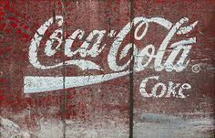 Painted on Wood Vintage Rustic Coco Cola Coke Poster Print Paper OR Wall Vinyl