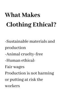 A guide to chooseing ethical clothing brands. Understanding ethical fashion, sustainable clothing production and cruelty-free clothing brands. Ethical Fashion Brands, Ethical Clothing, Sustainable Clothing, Sustainable Fashion, Fashion Infographic, Revolution, Eco Friendly Fashion, Branding, Fashion Quotes