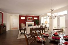 Dining room to living room view