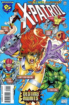 Vintage Marvel Comics X-Patrol April 1996 issue vol 1 Mint condition. Comic Book Characters, Comic Book Heroes, Comic Character, Comic Books Art, Comic Art, Comic Pics, Book Art, Character Design, Fictional Characters