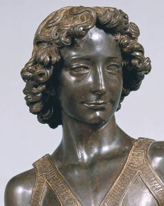 The 125 cm bronze statue of David by Andrea del Verrocchio kept at the Bargello Museum in Florence was likely made between 1473 and 1475. Description from beyondthirtynine.com. I searched for this on bing.com/images