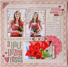 Half Dozen Roses *My Mind's Eye* by Jana Eubank @2peasinabucket