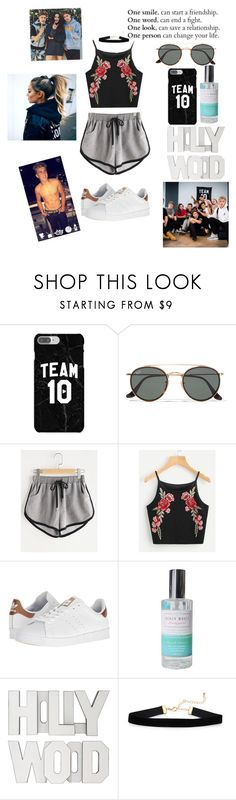 """Team 10™ ❤️"" by joyneely ❤ liked on Polyvore featuring Ray-Ban and adidas"