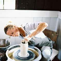 """Put your hands to work, and give your hearts to God.'' -Mother Ann Lee, the Shakers' founder. . . . . #clay #makingmeditation #theartofslowliving #seedsandstone #wabisabi #porcelain #ceramics #simplebeauty #handmade #film #hawaii #maui #thankful #handsthatmake 📷by @ashleykelemen for @magnoliarouge lifestyle blog"