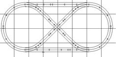 4x8' Track Plans for Model Train Layouts: O Gauge Oval + Figure 8