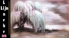 How to draw a Weeping  willow or eywa / Perspective and landscapes / #13