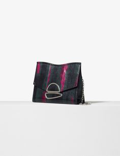 Proenza Schouler Juniper printed exotic small chain Curl clutch