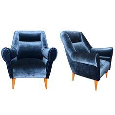 Two 1950s Italian Armchairs