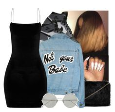 """""""<< Not your Babe >>"""" by eazybreezy305 ❤ liked on Polyvore featuring NIKE, Forever 21, River Island and Sunday Somewhere"""