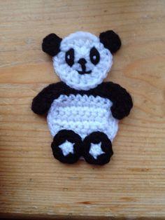 Hand Crochet Baby Panda Bear Applique Motif Embellishment in Other Crochet   eBay