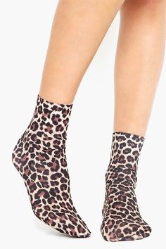 Leopard Ankle Socks