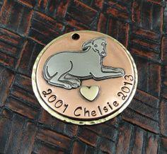 Greyhound Memorial Custom ID Tag