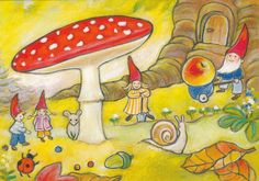 nl I do love red polka dottie mushrooms. Brownie Fairy, David The Gnome, Red And White Mushroom, Beautiful Posters, Woodland Party, Illustrations And Posters, Fairy Tales, Stuffed Mushrooms, Supernatural