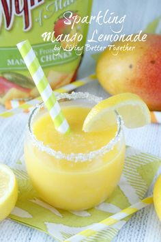 Sparkling Mango Lemonade | www.livingbettertogether.com
