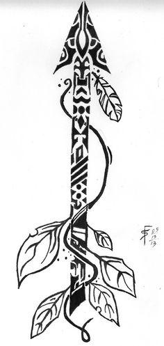 Tribal Arrow by draconistheory on deviantART