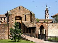 Vigevano in de Noord-Italiaanse provincie Lombardije Renaissance stadje