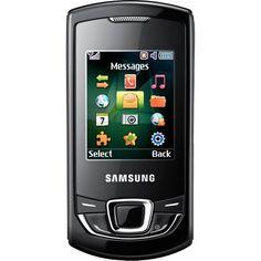 Samsung E2550 Monte Slider Orange Pay as You Go Mobile Phone