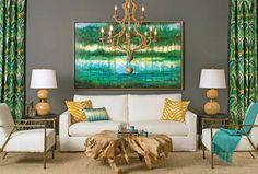 high fashion home gray wall living room idea 43