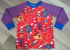 """Kinderkleidung - Shirt """"Feuerwehr"""" Gr. 92/98 - ein Designerstück von ElliundMo bei DaWanda"""