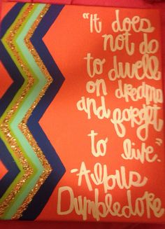 Albus Dumbledore Canvas Quote by changriffin22 on Etsy, $10.00